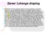 saree lehanga draping