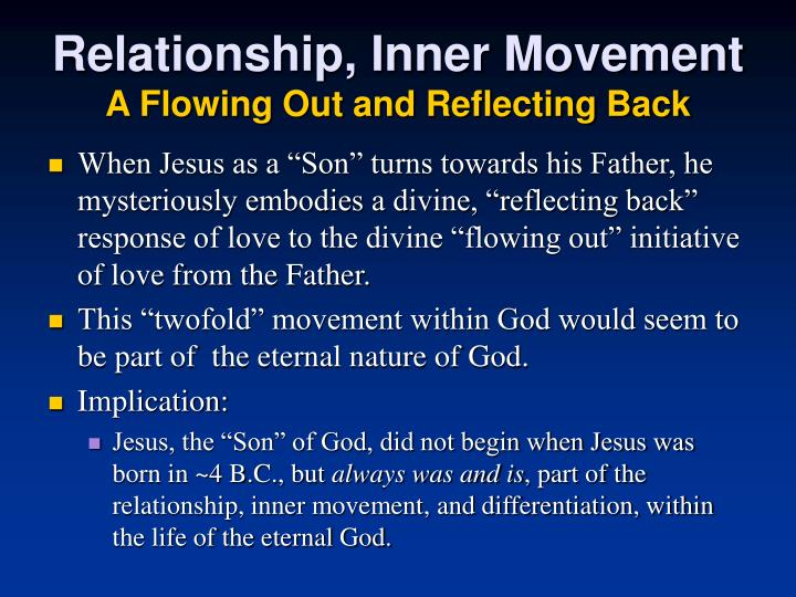 Relationship, Inner Movement