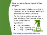 here are some house cleaning tips for you