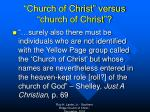 church of christ versus church of christ1