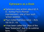 ephesians as a book