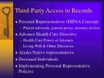 third party access to records