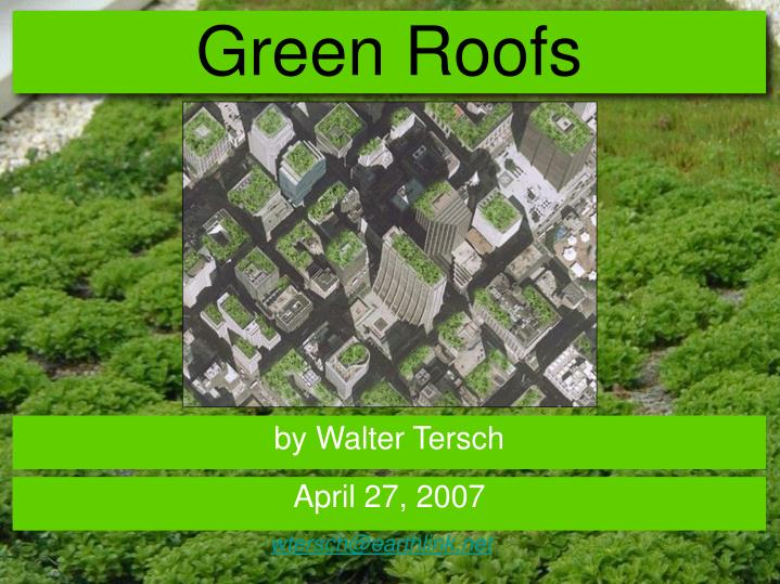 green roofs n.