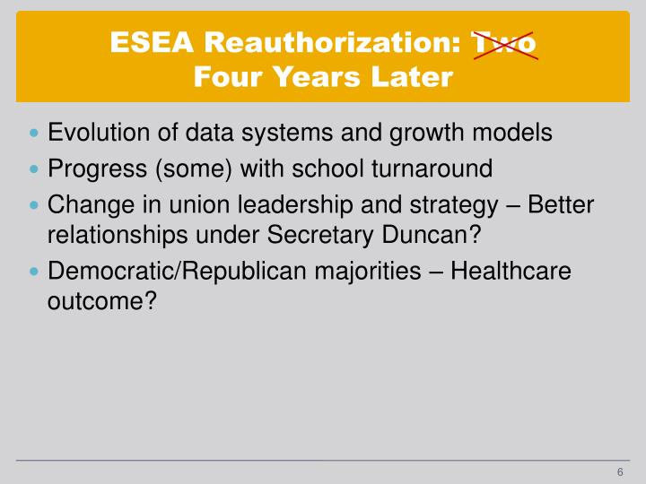 ESEA Reauthorization: Two