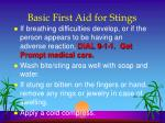 basic first aid for stings1