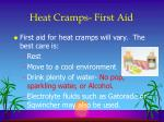 heat cramps first aid