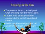 soaking in the sun