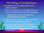 the sting of anaphylaxis