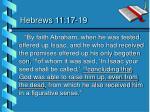 hebrews 11 17 19