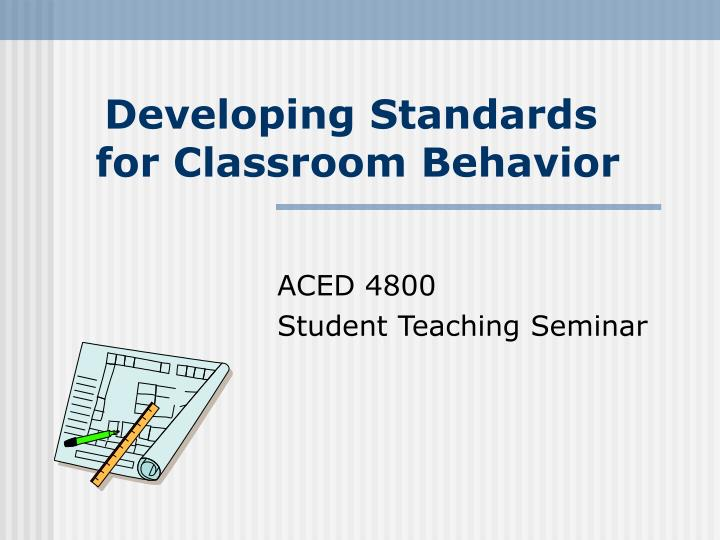 developing standards for classroom behavior n.