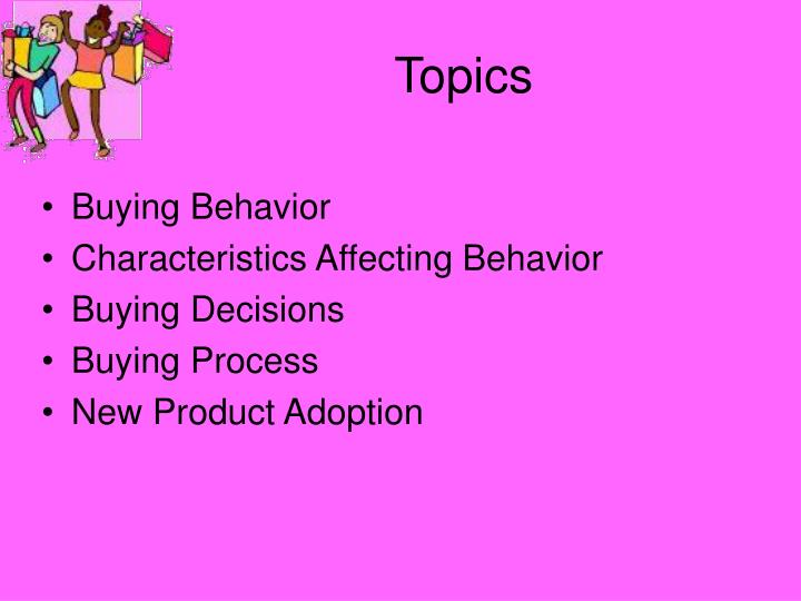 5 characteristics affecting consumer behavior Social factors affecting consumer buying behavior: a customer's buying behavior is also influenced by social factors, such as the groups to which the customer belongs and social status each culture contains sub-cultures - groups of people with share values.
