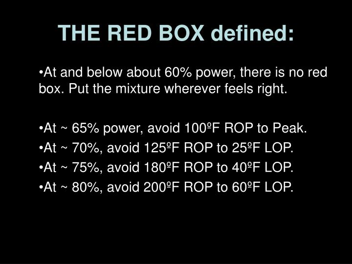 THE RED BOX defined: