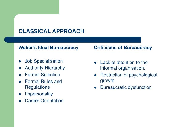 Weber's Ideal Bureaucracy