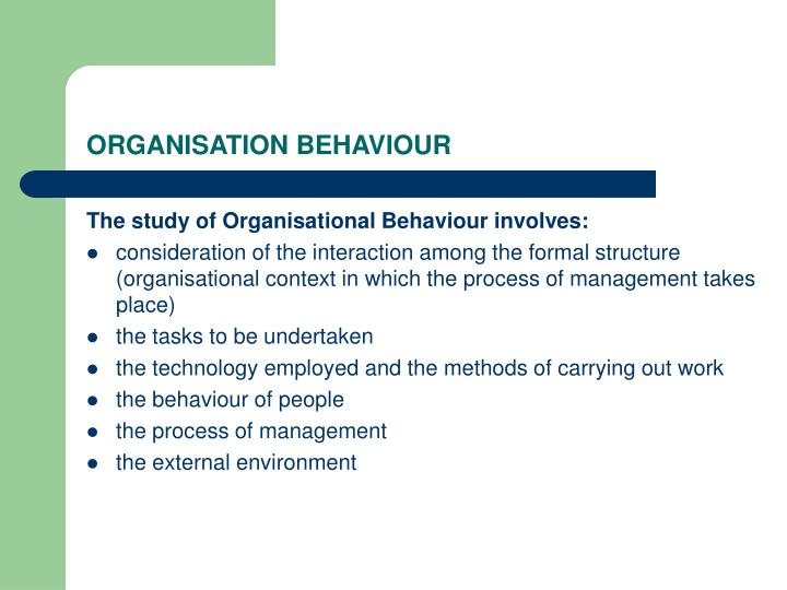 Organisation behaviour2