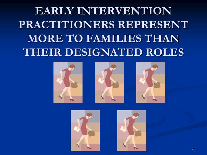 EARLY INTERVENTION PRACTITIONERS REPRESENT MORE TO FAMILIES THAN THEIR DESIGNATED ROLES