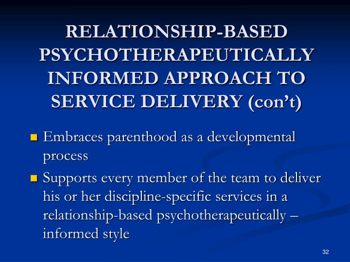 RELATIONSHIP-BASED PSYCHOTHERAPEUTICALLY