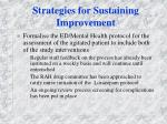 strategies for sustaining improvement