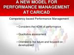 a new model for performance management at caricad