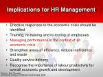 implications for hr management