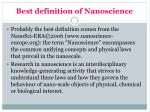 best definition of nanoscience