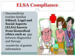 elsa compliance