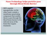 nano technology helps particles pass through blood brain barrier