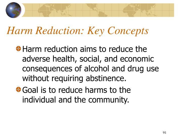 Harm Reduction: Key Concepts