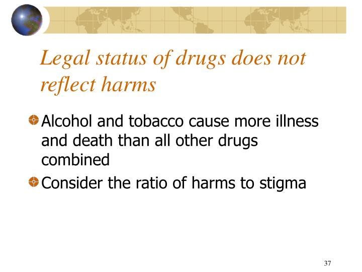 Legal status of drugs does not reflect harms