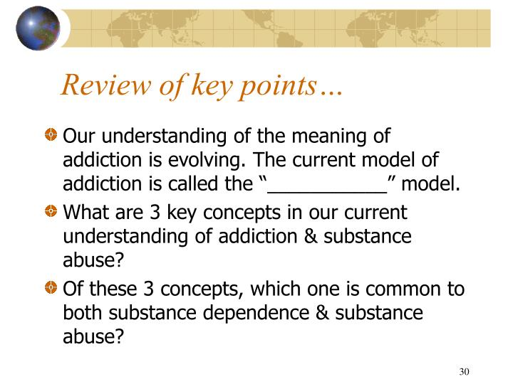 Review of key points…