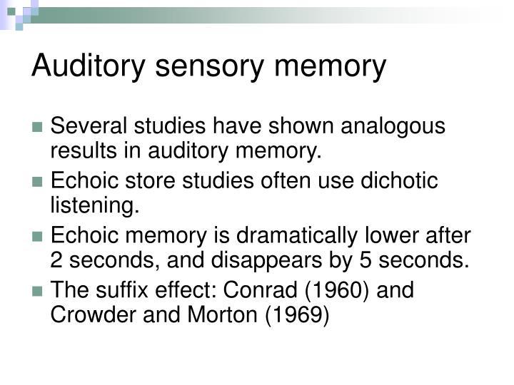 Auditory sensory memory