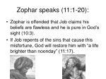 zophar speaks 11 1 20