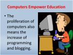 computers empower education