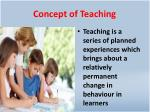 concept of teaching