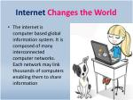 internet changes the world