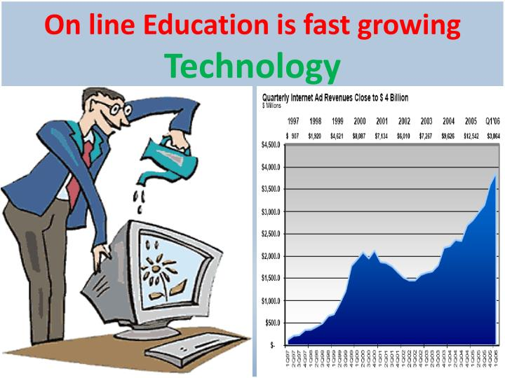 On line Education is fast growing