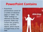 powerpoint contains