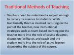 traditional methods of teaching