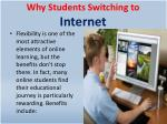 why students switching to internet