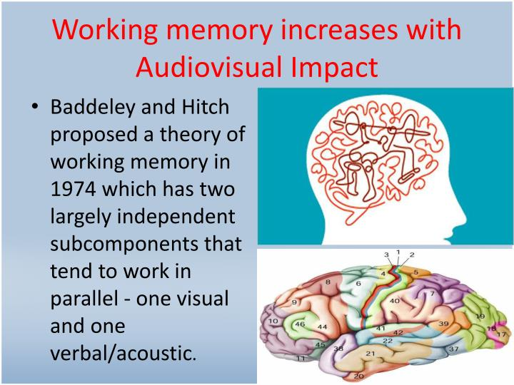 Working memory increases with Audiovisual Impact