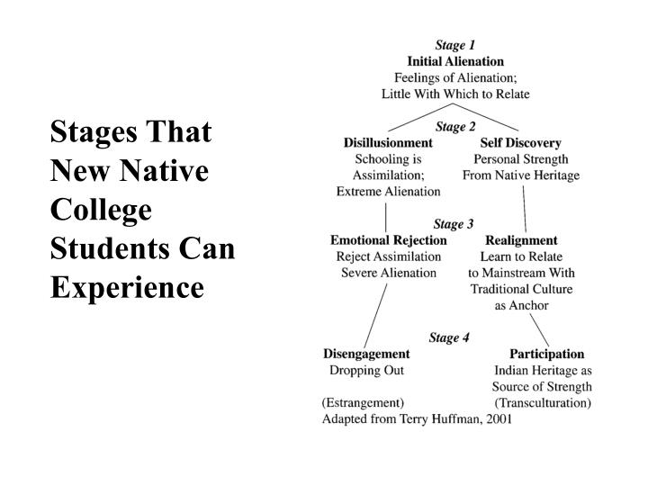 Stages That New Native College Students Can Experience