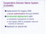 cooperative domain name system codons
