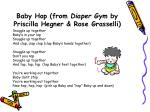 baby hop from diaper gym by priscilla hegner rose grasselli