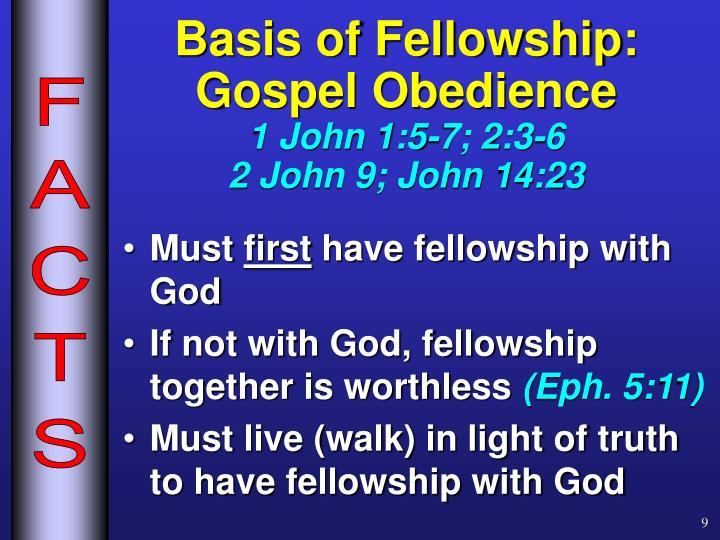 Basis of Fellowship: