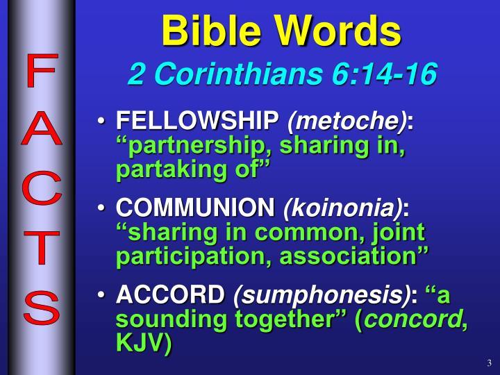 Bible words 2 corinthians 6 14 16