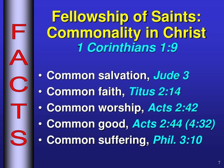 Fellowship of Saints: