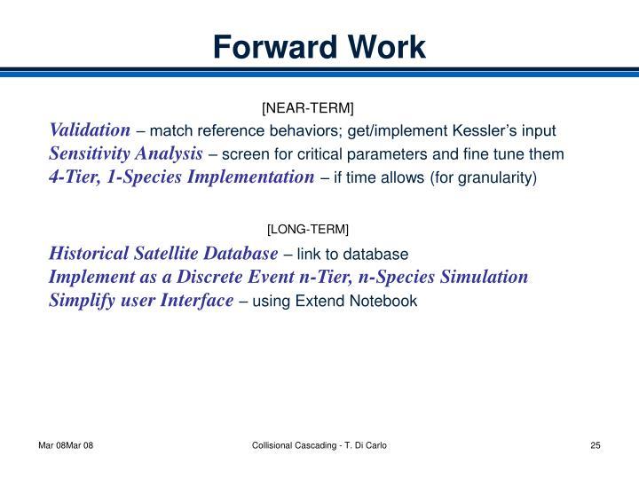 Forward Work