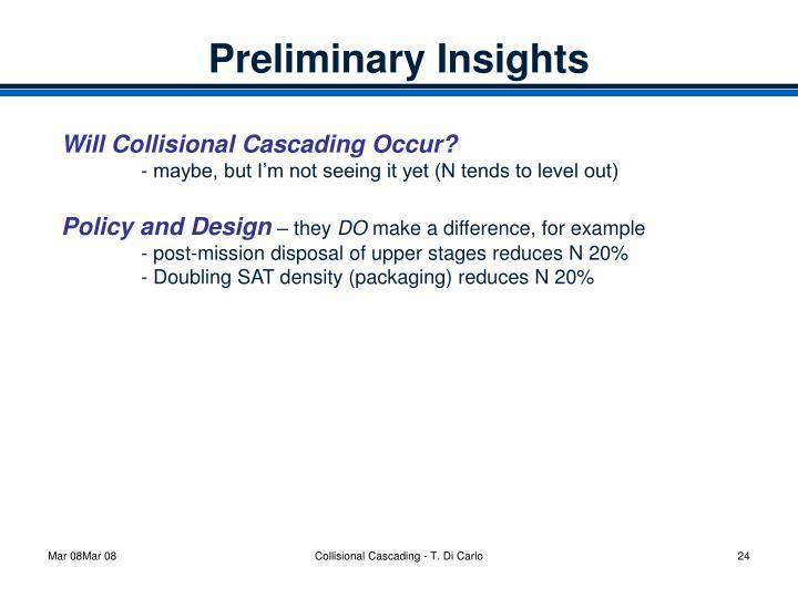 Preliminary Insights
