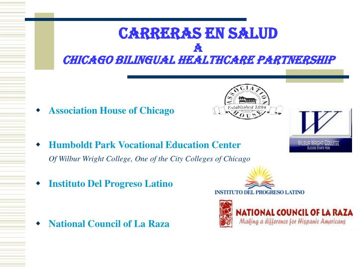 carreras en salud a chicago bilingual healthcare partnership n.