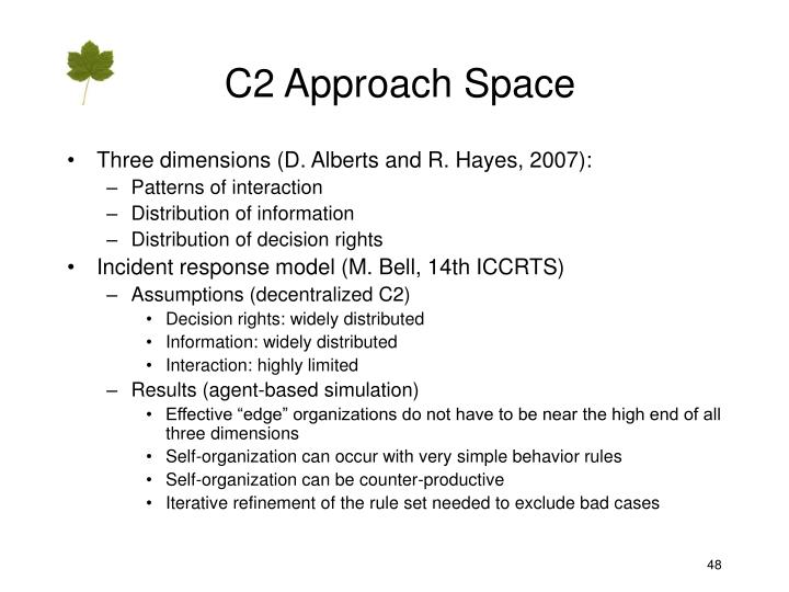 C2 Approach Space