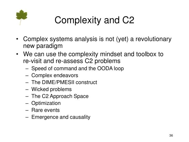 Complexity and C2